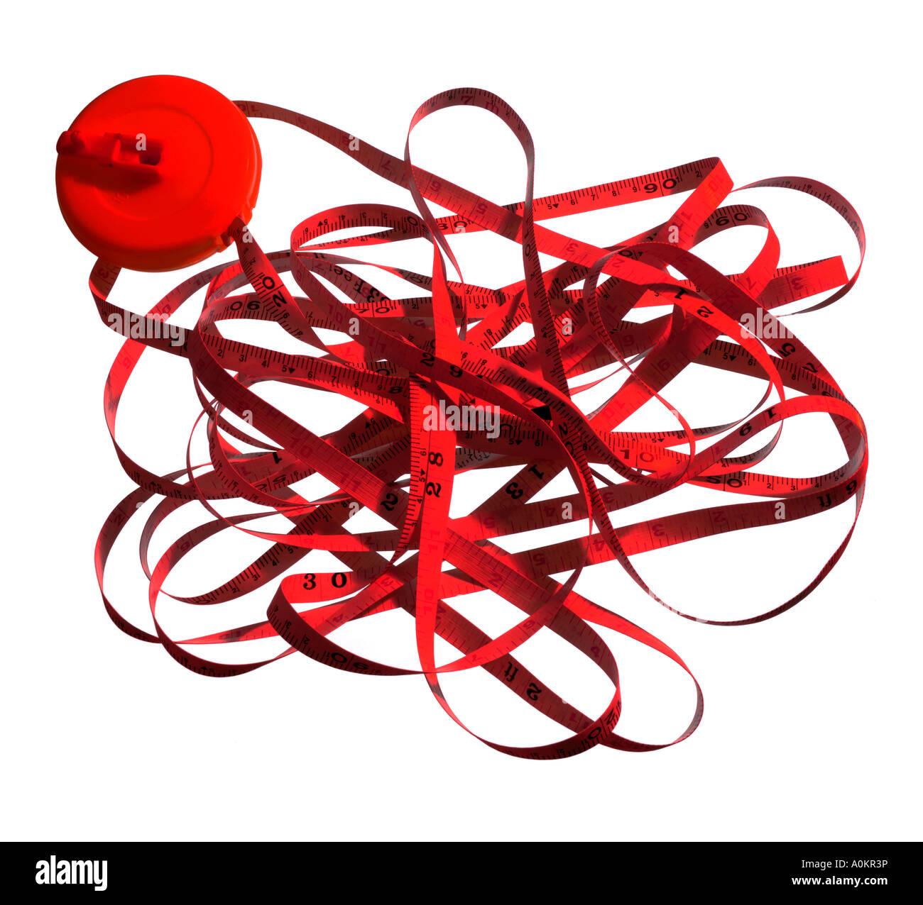 Cinta roja concepto o metáfora Imagen De Stock