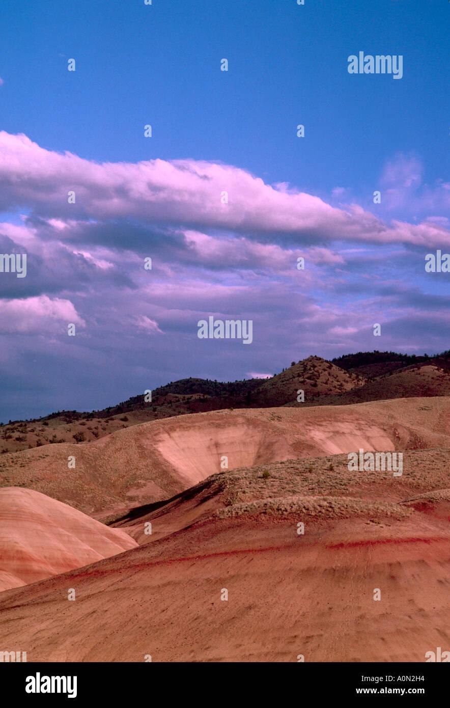 Cerros pintados John Día yacimientos fósiles Monumento Nacional Oregón EE.UU. Foto de stock
