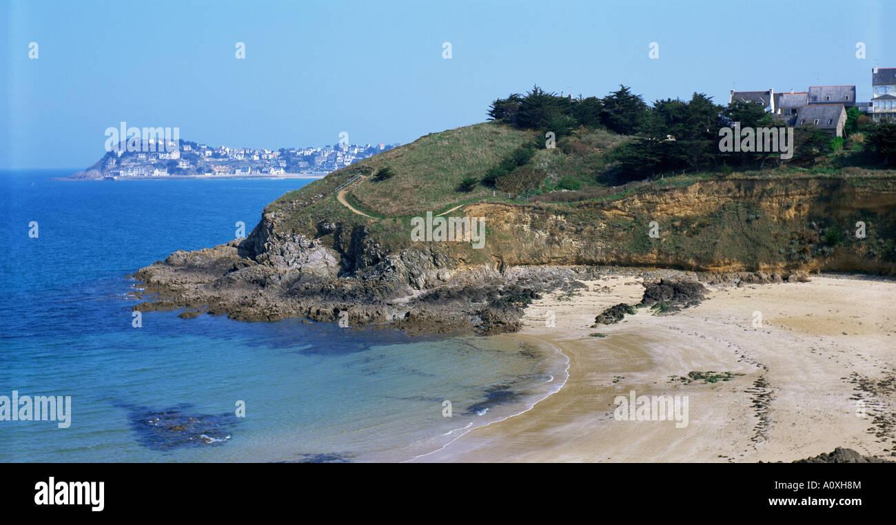 Le Val Andre Emerald Coast Cotes d Amor Bretaña Francia Europa Imagen De Stock