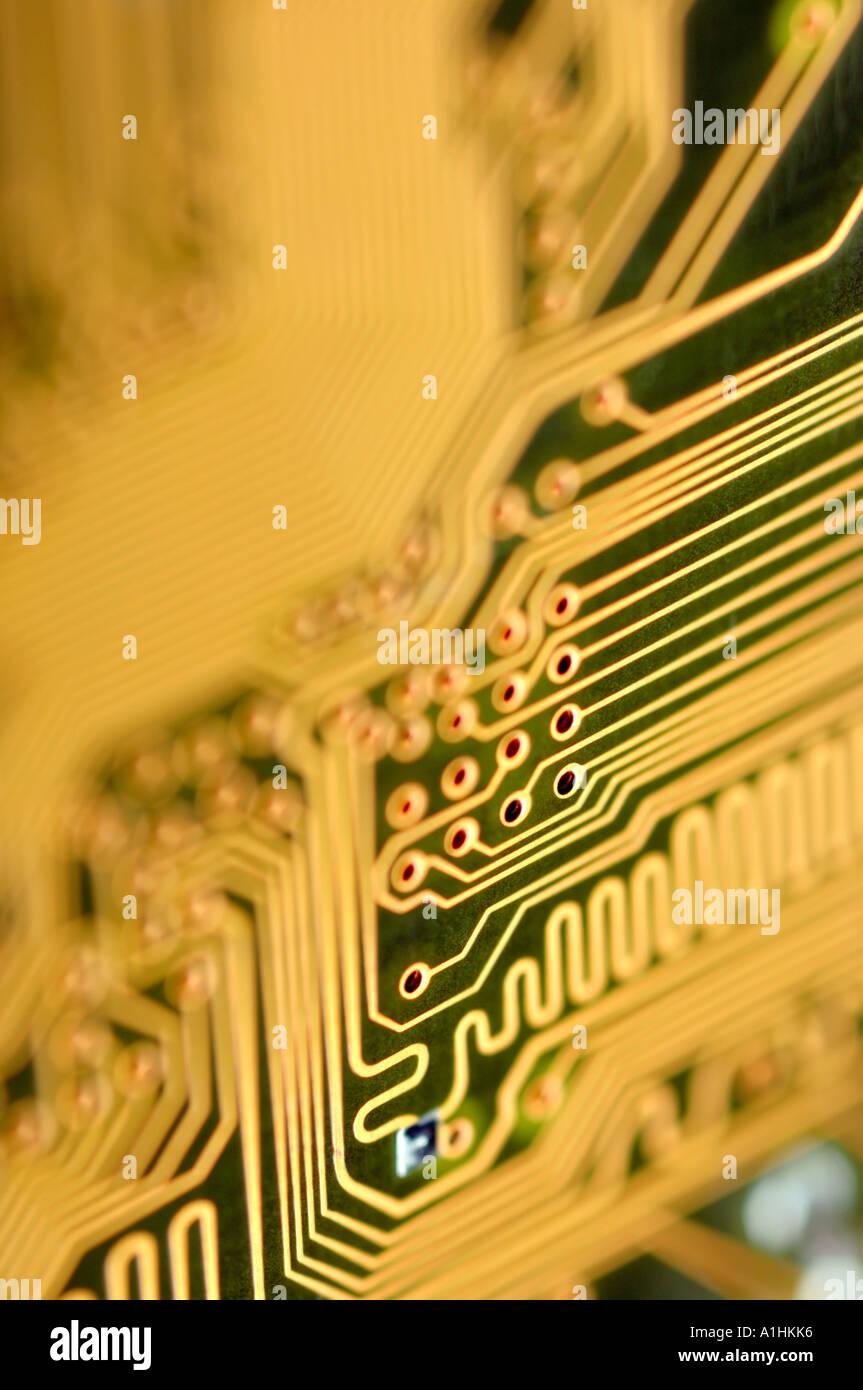 Resumen detalle de la placa de circuitos de computadora Imagen De Stock