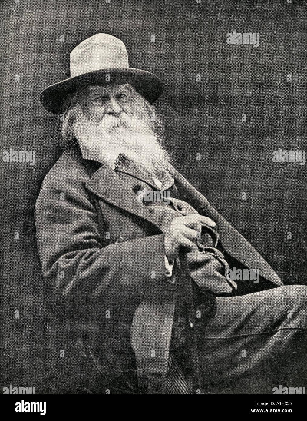 Walt Whitman, 1819 - 1892. Poeta americano Foto de stock