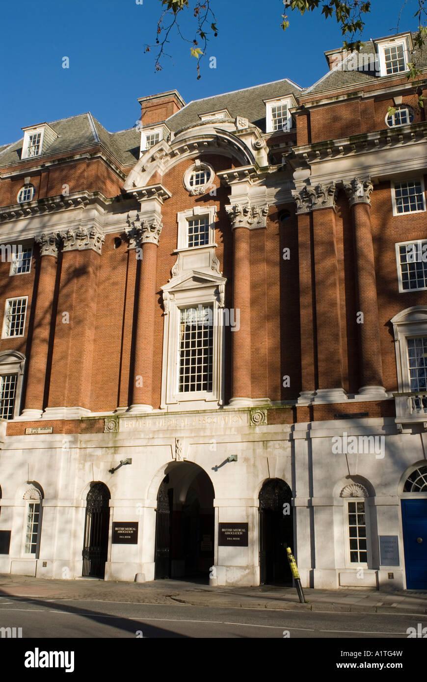 Edificio de la Asociación Médica Británica en Londres, Gran Bretaña. Imagen De Stock