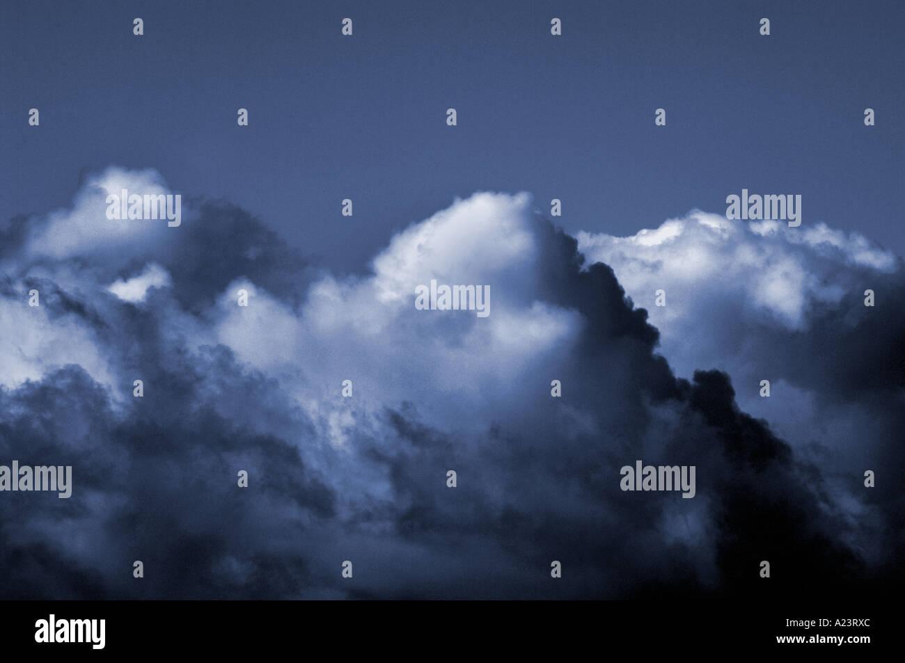Cielo teñido Foto de stock