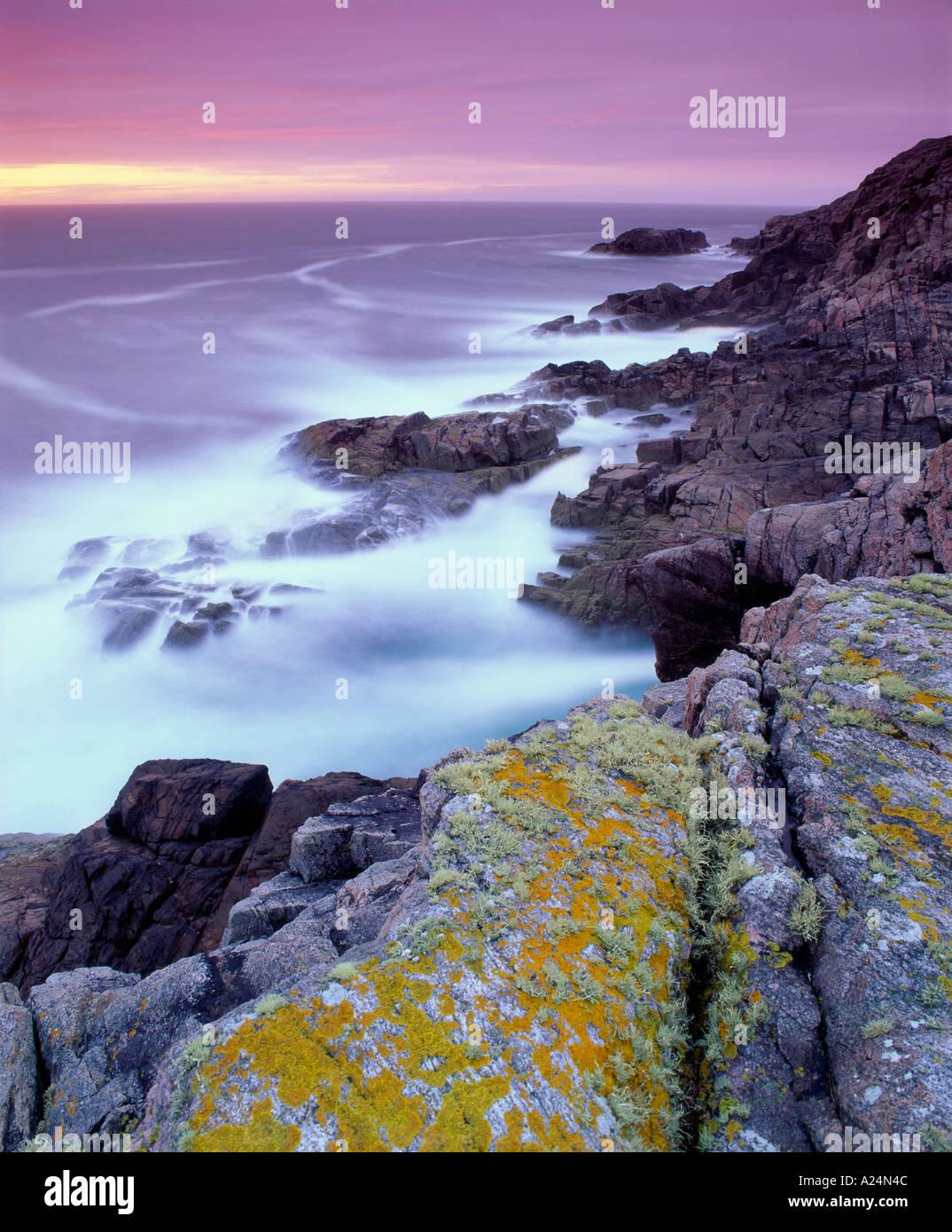 Cerca de la costa, cerca de Kinlochbervie Sheigra, Sutherland, Highland, Scotland, Reino Unido Imagen De Stock