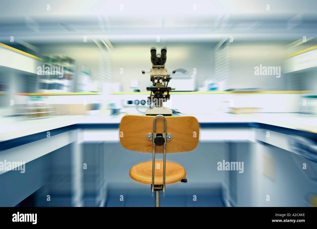El laboratorio de ciencias, laboratorio de investigación. Francia Imagen De Stock