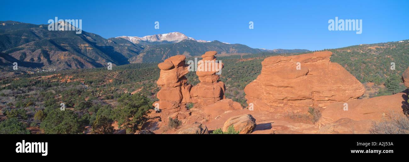 Siameses y el Jardín de los dioses, Colorado Springs, Colorado Foto ...