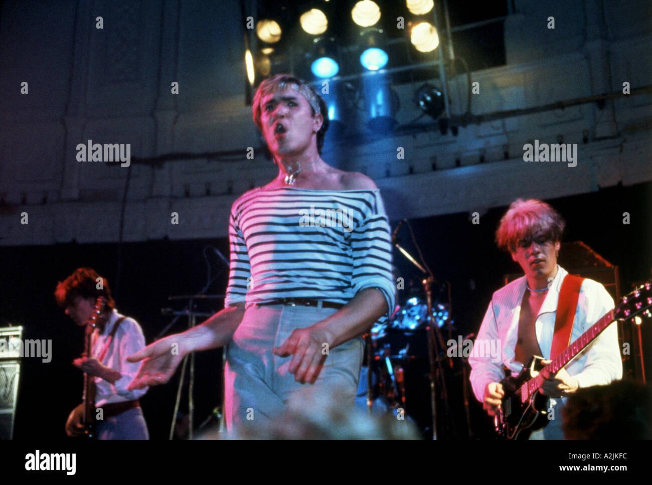 Banda de pop británico Duran Duran en los 80s con Simon Le Bon como cantante principal Imagen De Stock