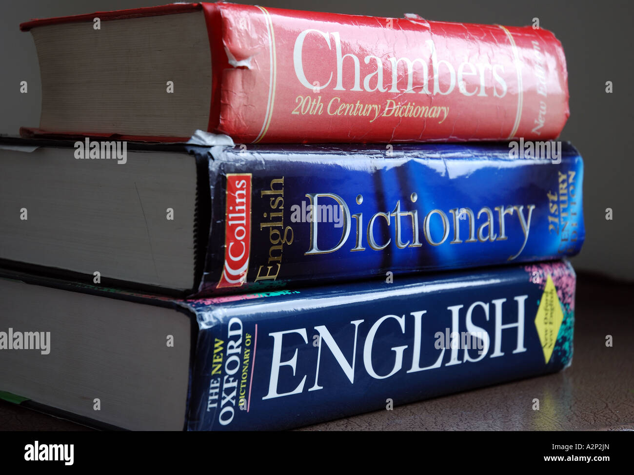 Collins English Dictionary Reference Book Imágenes De Stock