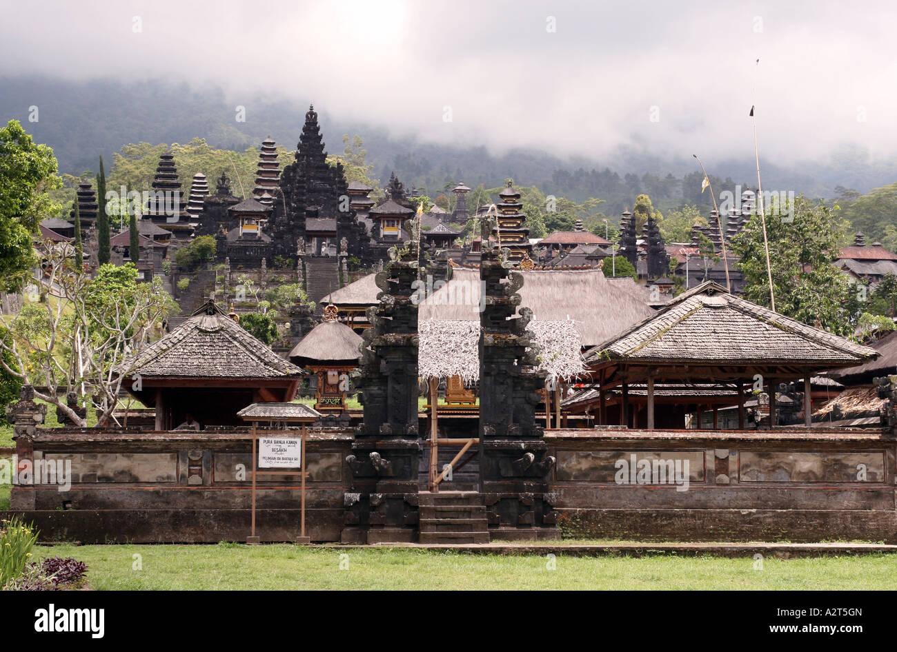 Templo de Besakih Foto de stock