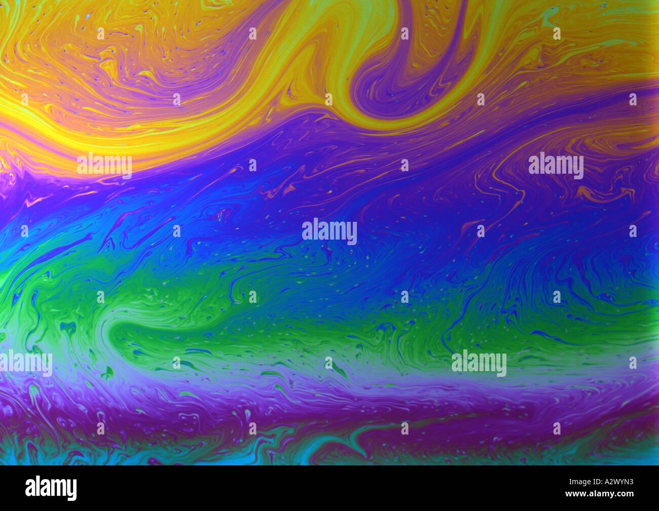 Patrón psicodélico (medio formato) realizados desde el rodaje de hadas patrones líquidos Imagen De Stock