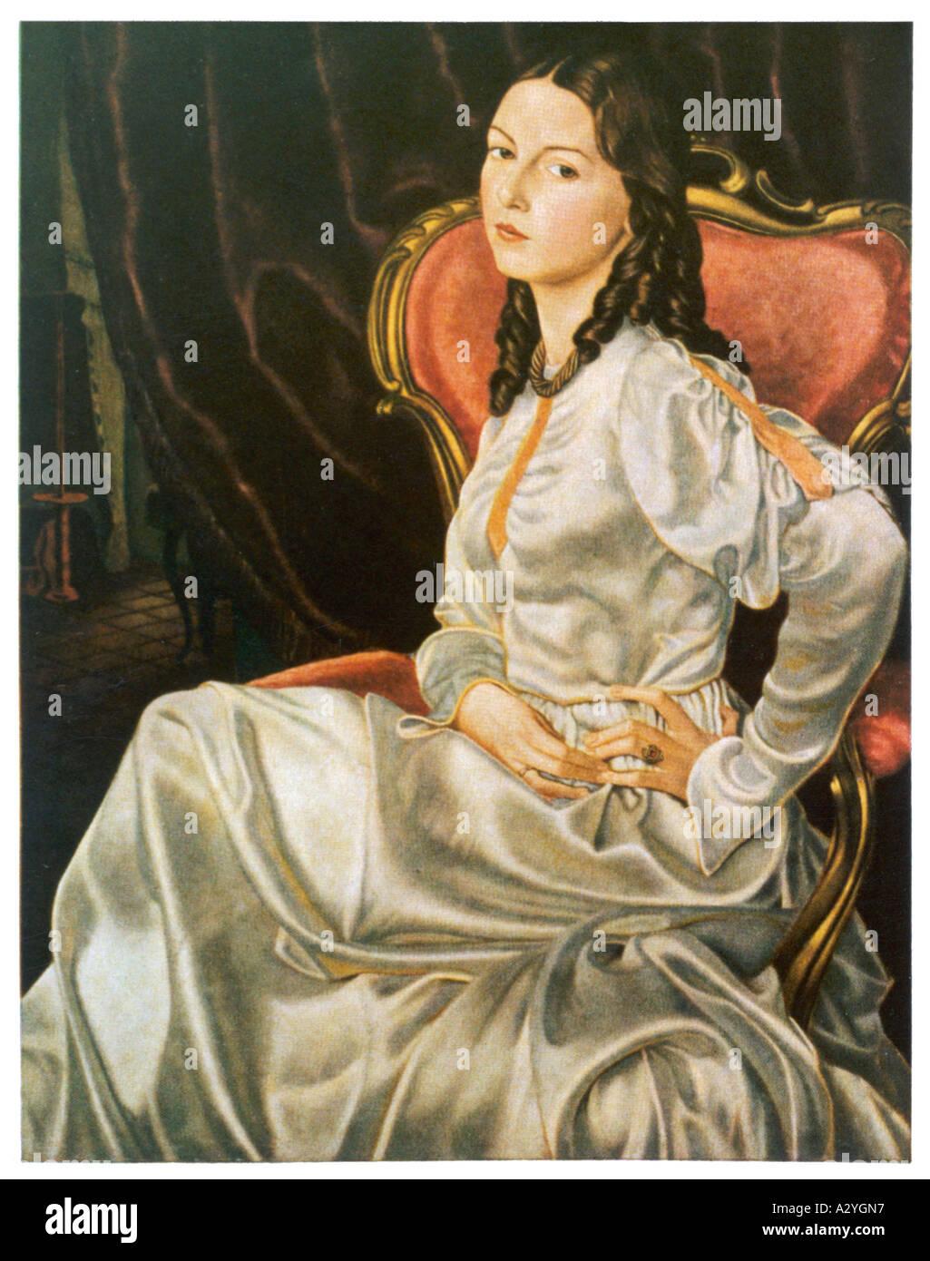 Mujer alemana 1860 Imagen De Stock
