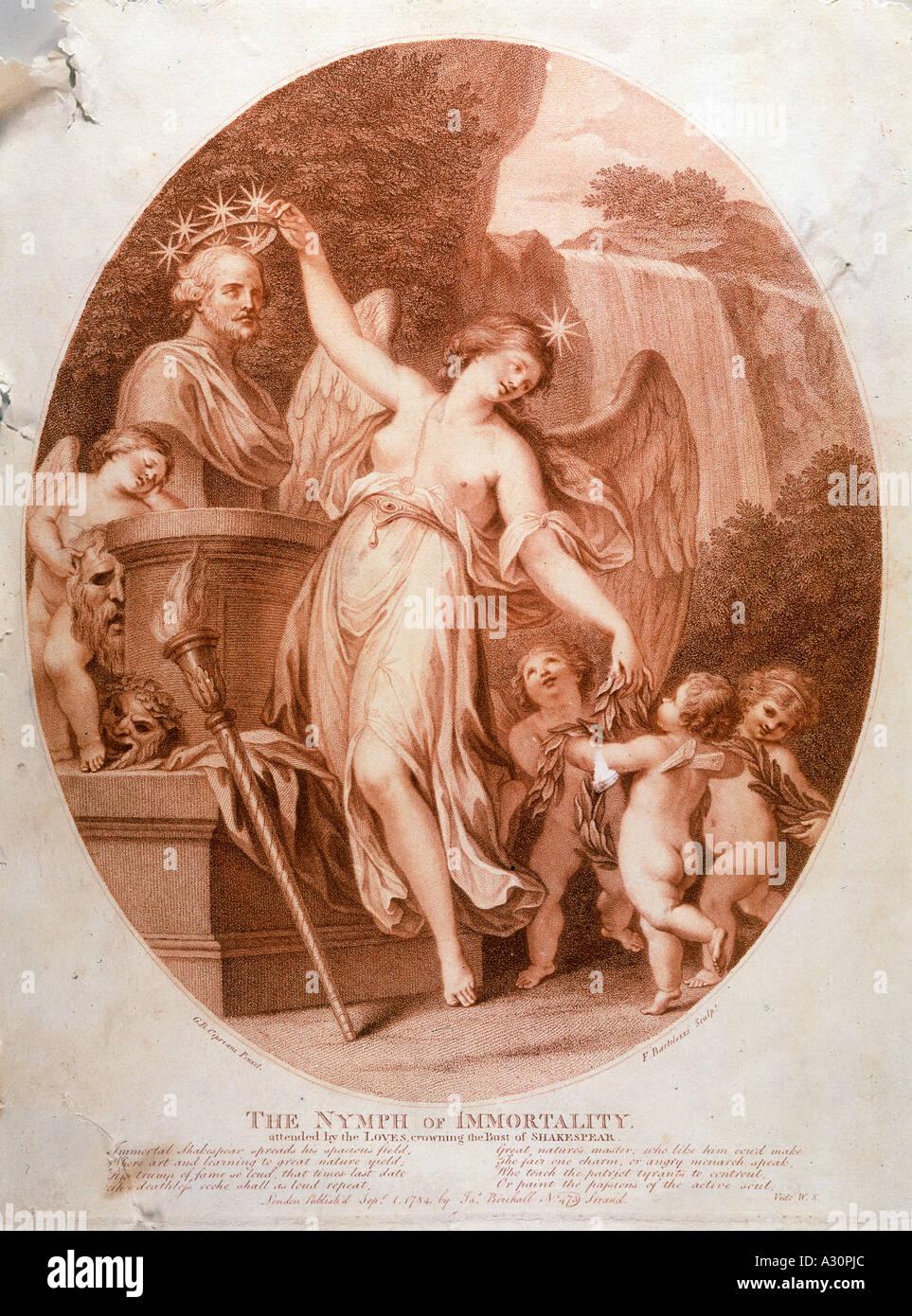 La Inmortalidad de Shakespeare Foto de stock
