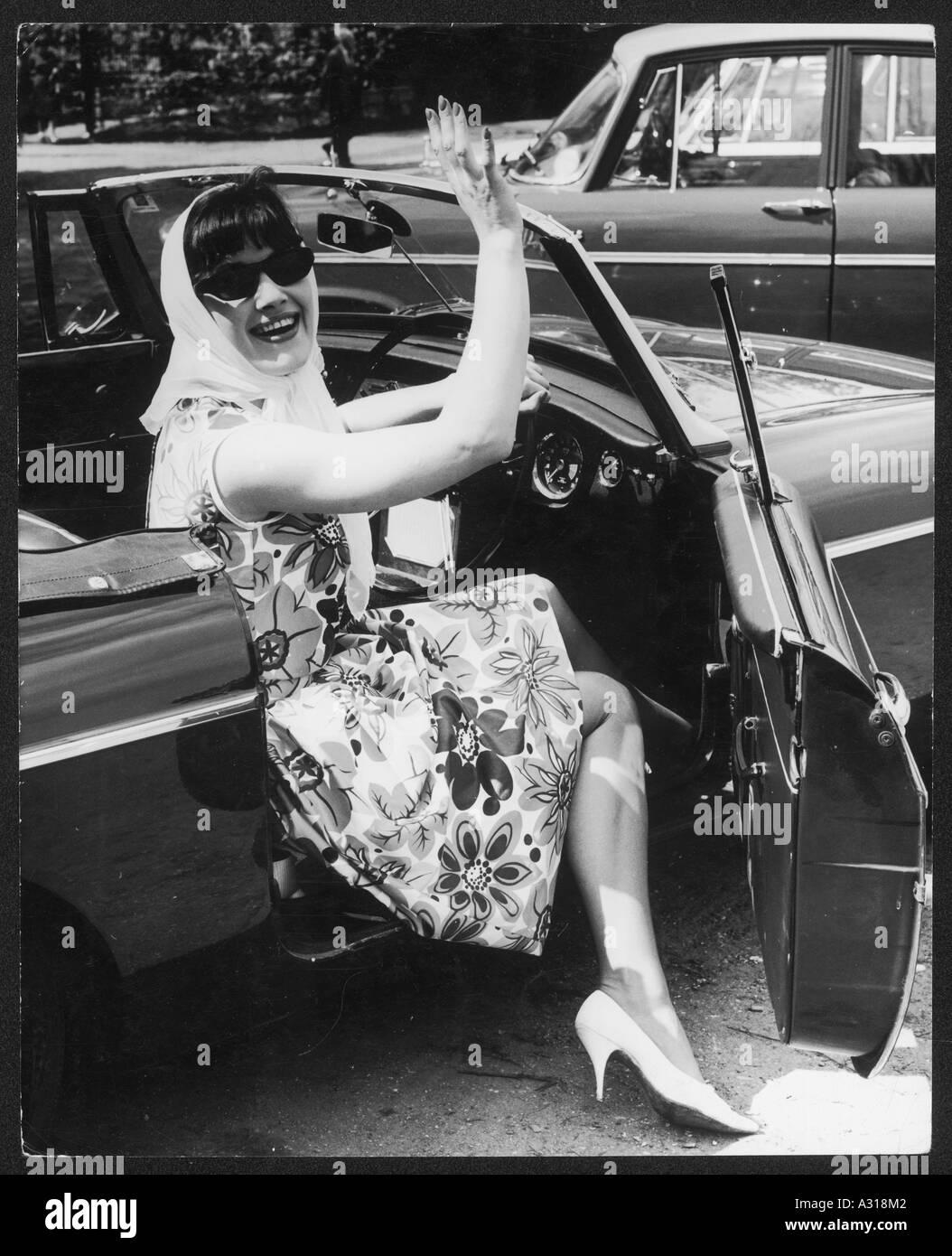 60s Fashion Convertible Imagen De Stock