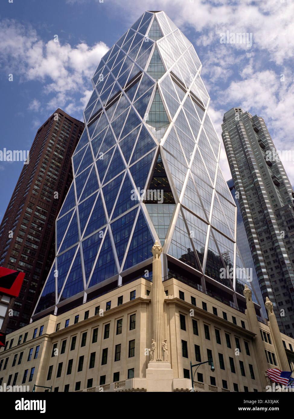 Hearst Tower, 300 West 57th Street, Nueva York. 2006 Arquitecto: Foster y Asociados Imagen De Stock