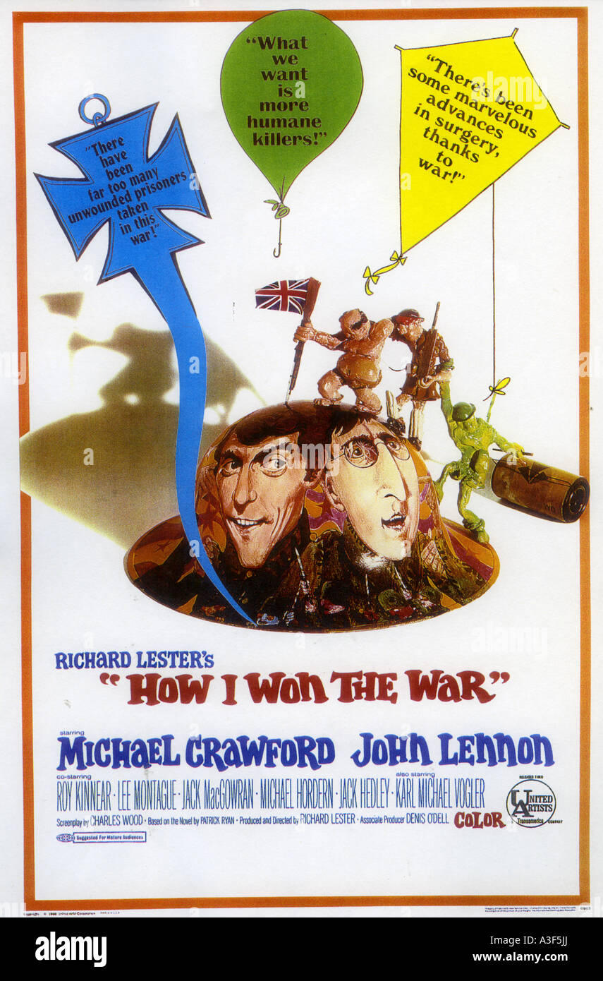 Cómo gané la guerra cartel de 1967 UA película con John Lennon Foto de stock