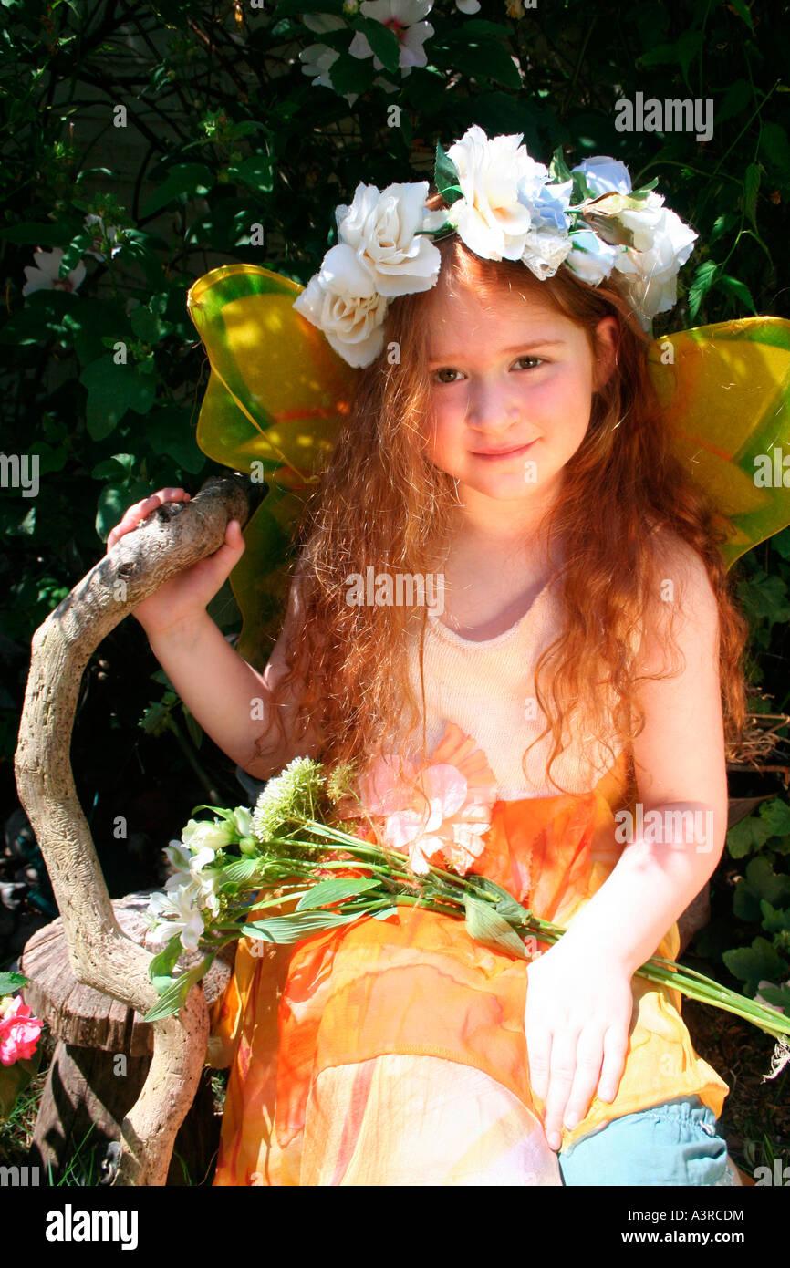 Coronada la reina de las Hadas Foto de stock
