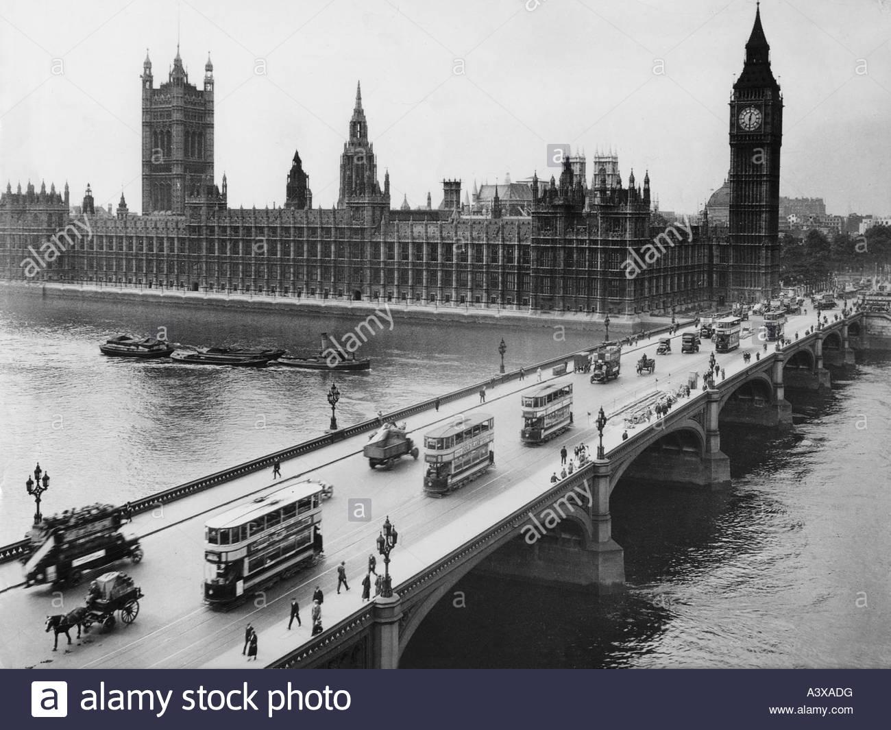 Geografía / viajes, Gran Bretaña, Inglaterra, Londres, edificios, Casas del Parlamento, Westminster, campanario Imagen De Stock