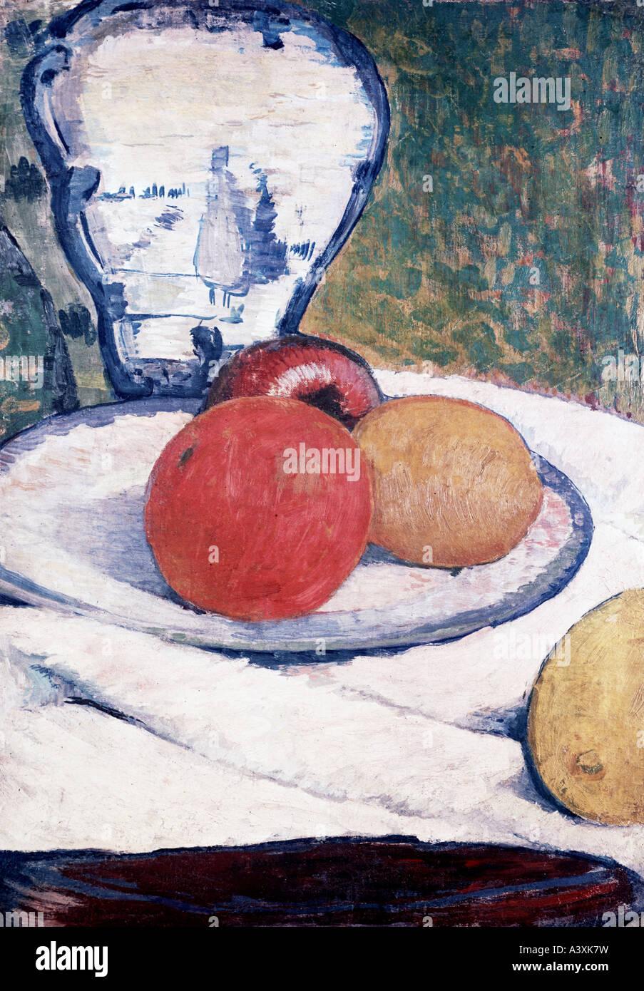 """""""Bellas Artes, Gauguin, Paul (1848 - 1903), pintura, 'Still life', propiedad privada, Munich, histórico, Imagen De Stock"""