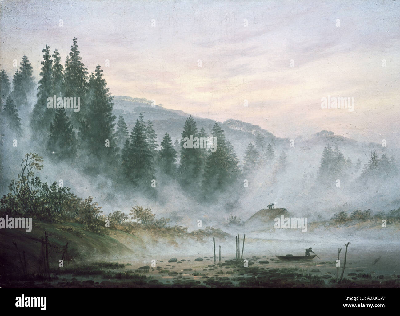 """""""Bellas Artes, Caspar David Friedrich, (1774 - 1840), pintura, 'Der morgen' ('mmatinal'), el Imagen De Stock"""