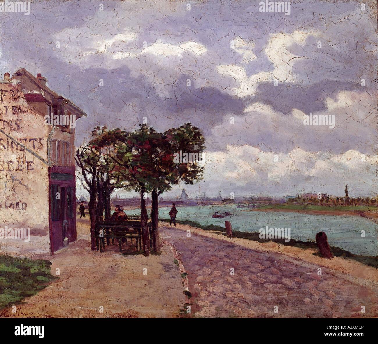 """""""Bellas Artes, Armand Guillaumin, (1841 - 1927), pintura, """"los bancos del río Sena, cerca de Ivry"""", Imagen De Stock"""