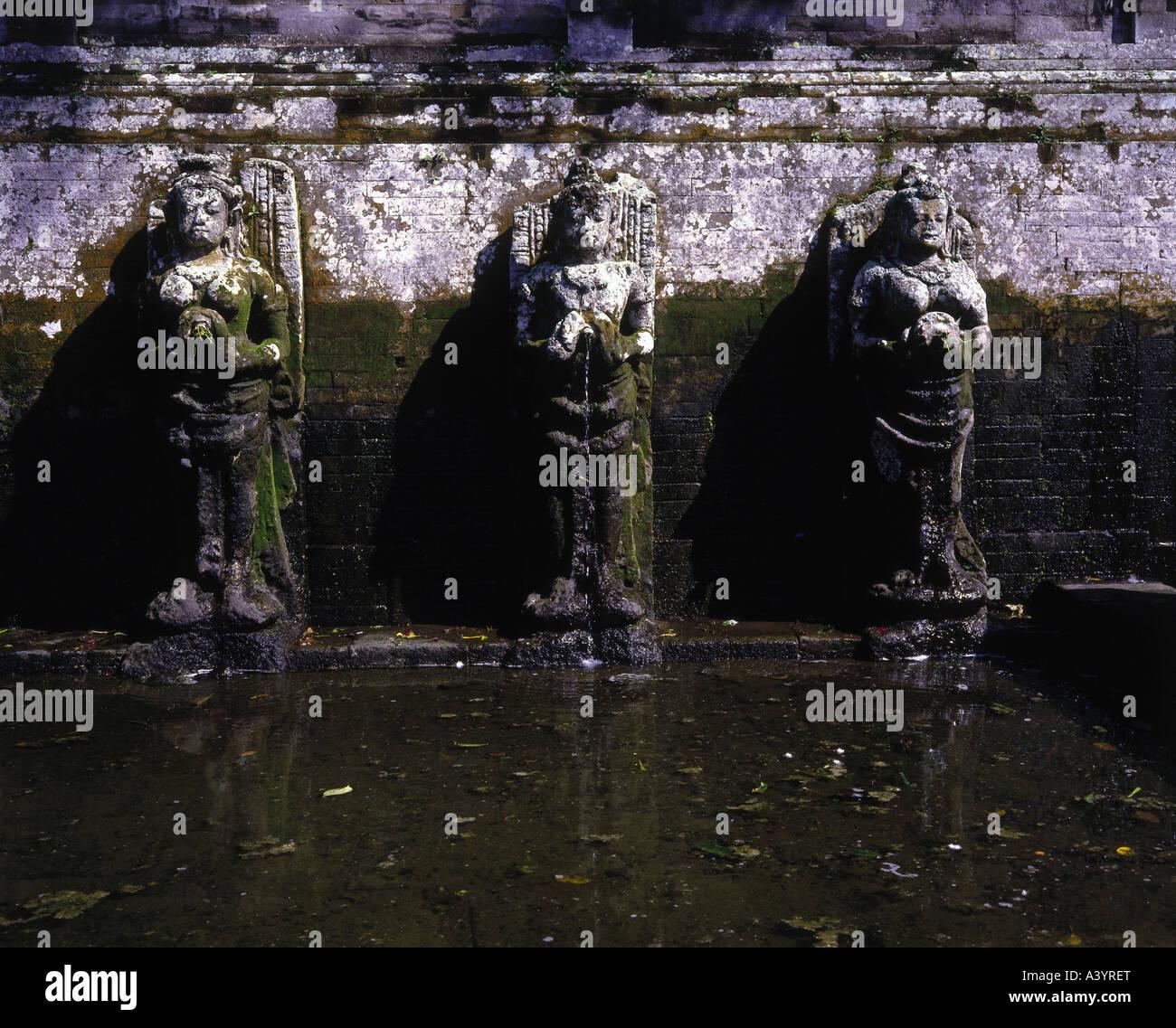 Viaje / Geografía, Indonesia, Bali, edificios, Goa Gajah, bañarse spot, ganga figuras, del siglo XI, , Imagen De Stock