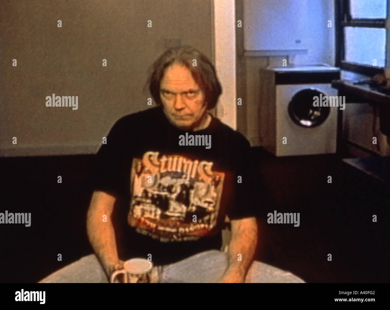 Año del Caballo de octubre de 1997 /Shakey Pictures film sobre el músico Neil Young Imagen De Stock