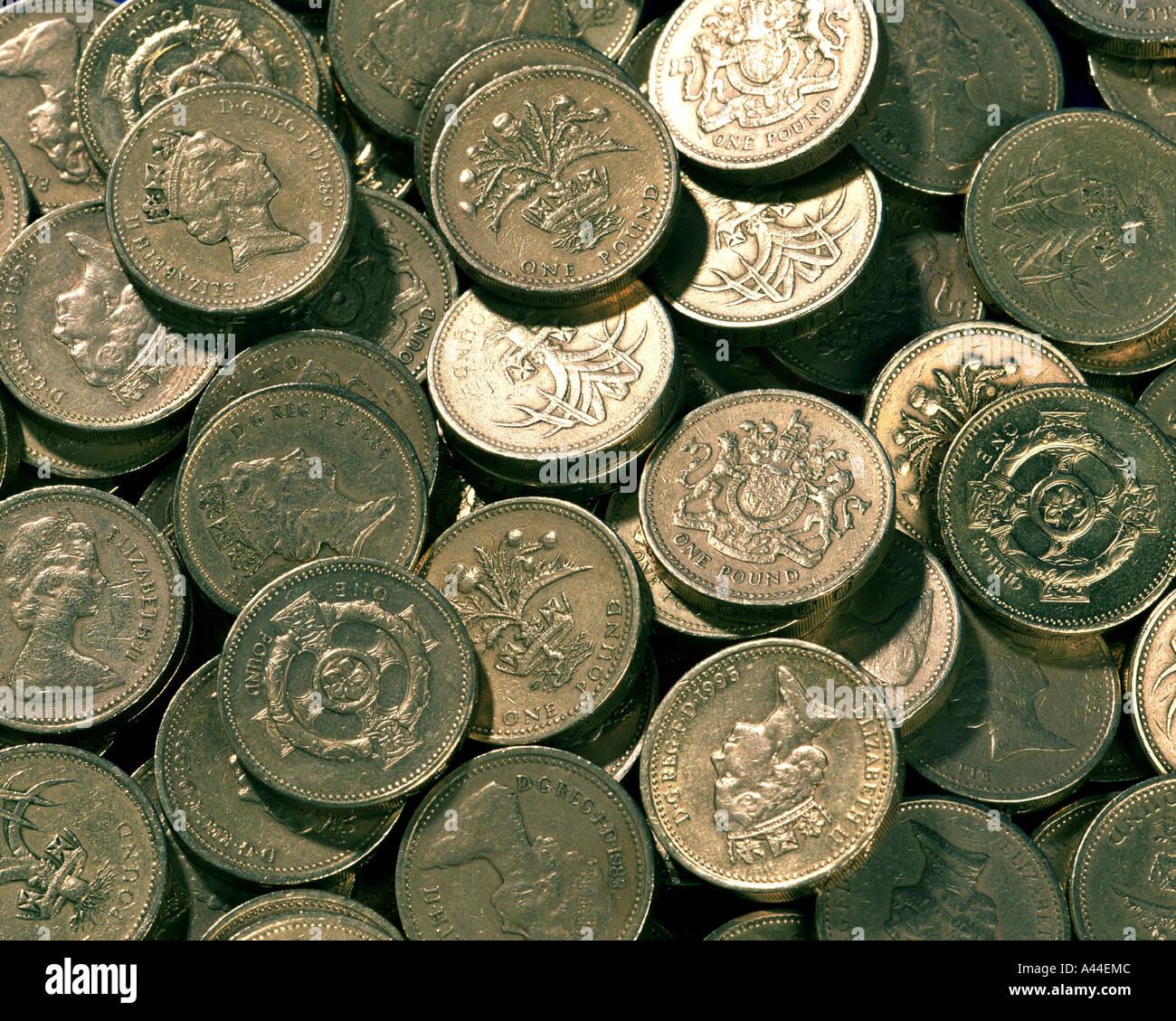 Concepto financieros: la moneda británica Imagen De Stock