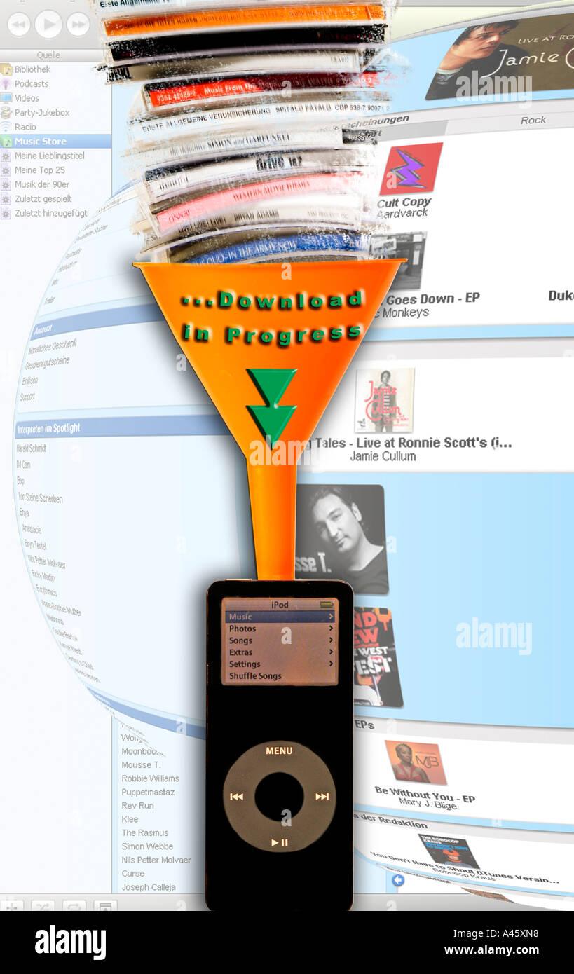 Para descargar música en el ipod Imagen De Stock