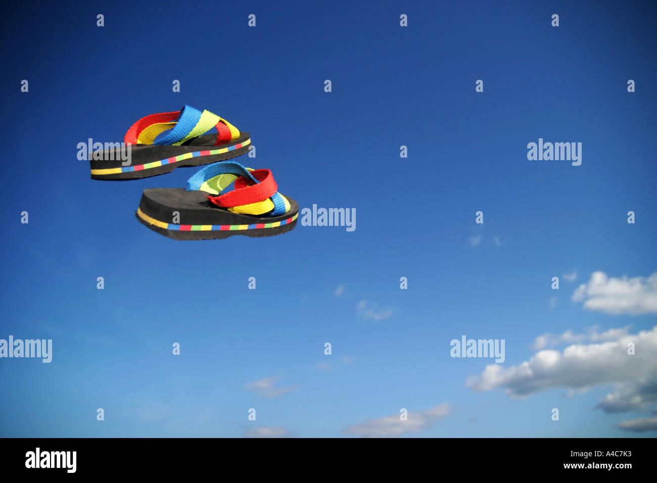 zapatos de la playa Imagen De Stock
