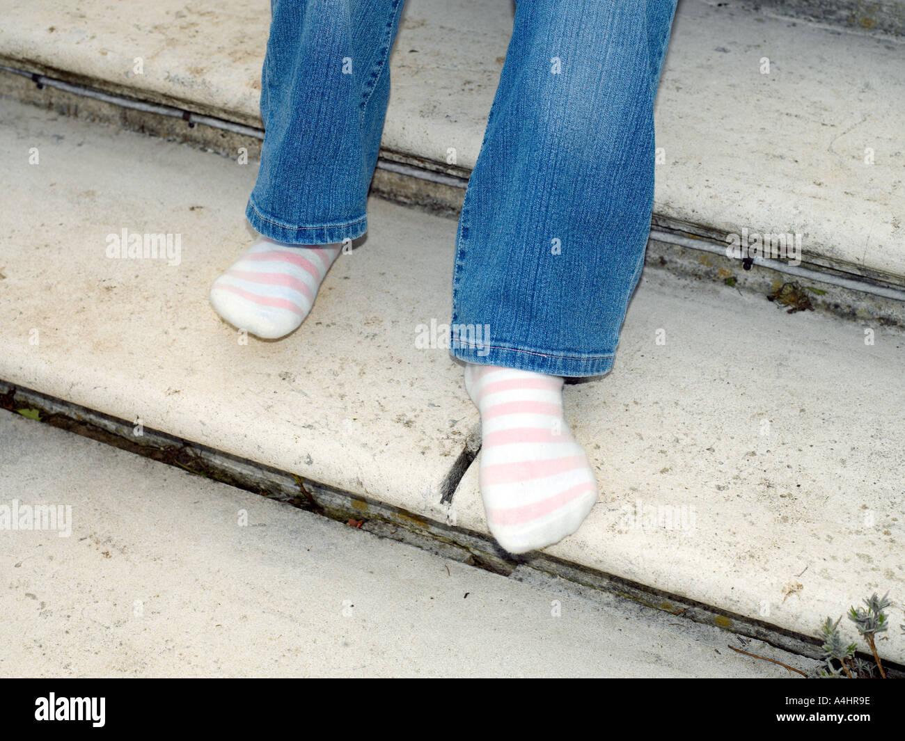 Calcetines rayas Imagen De Stock
