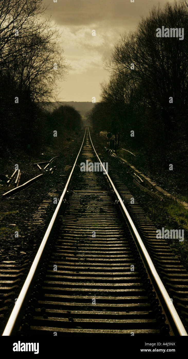 Vías de tren cerca de centeno East Sussex, UK Imagen De Stock
