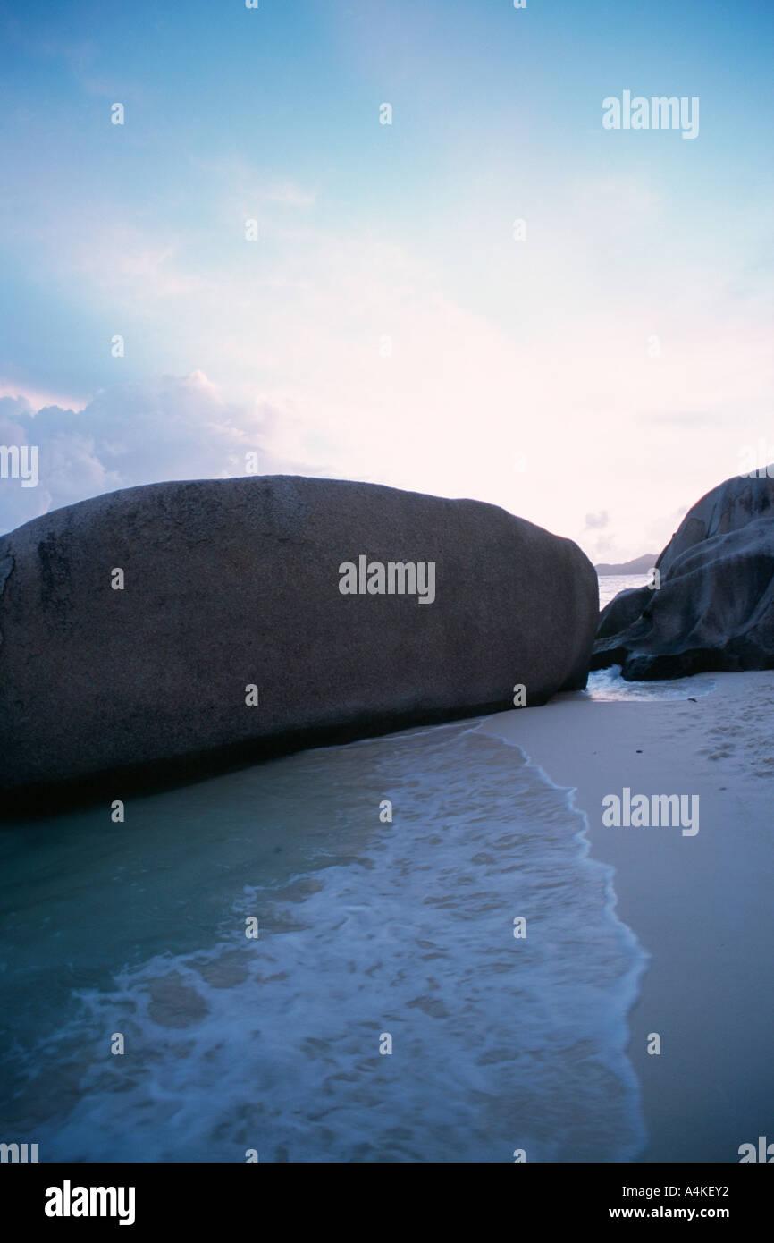 Seychelles La Digue island, Anse Source d'Argent Imagen De Stock