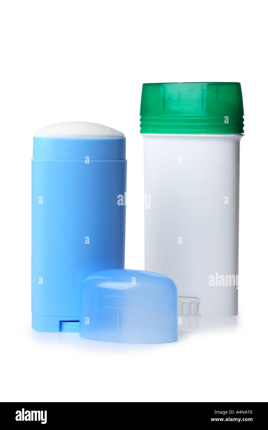 Hombres y mujeres de desodorante Imagen De Stock