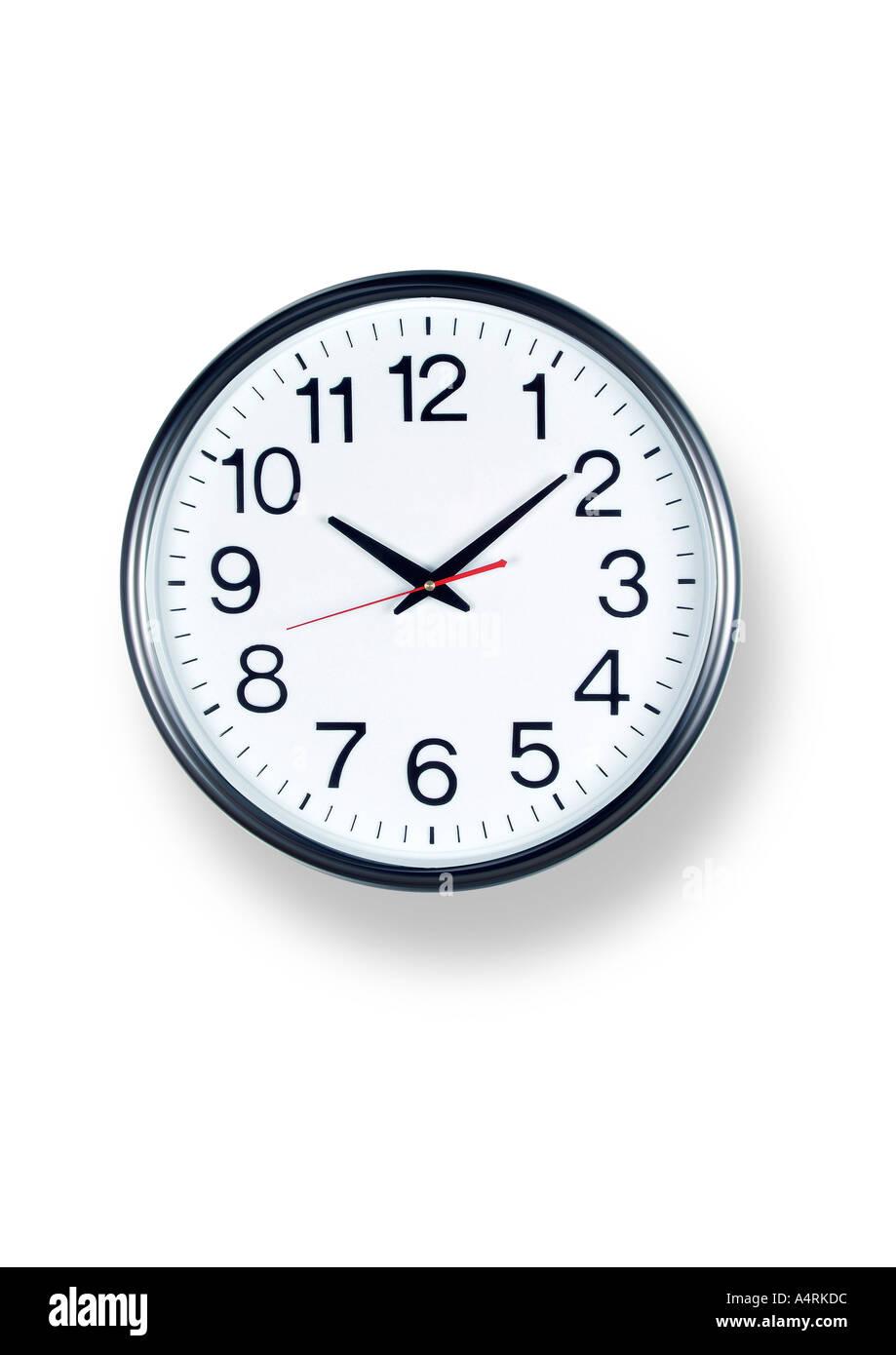 Reloj analógico reloj Uhr Wanduhr Imagen De Stock
