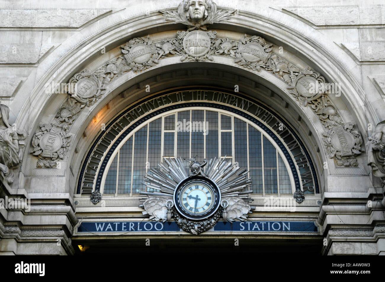 La estación de trenes de Waterloo, Londres, Gran Bretaña. Imagen De Stock