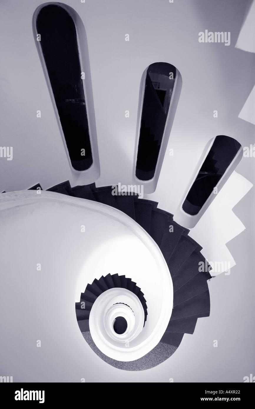 Escalera de caracol en la costa de Amalfi, Ravello, Campania, Italia Europa Imagen De Stock