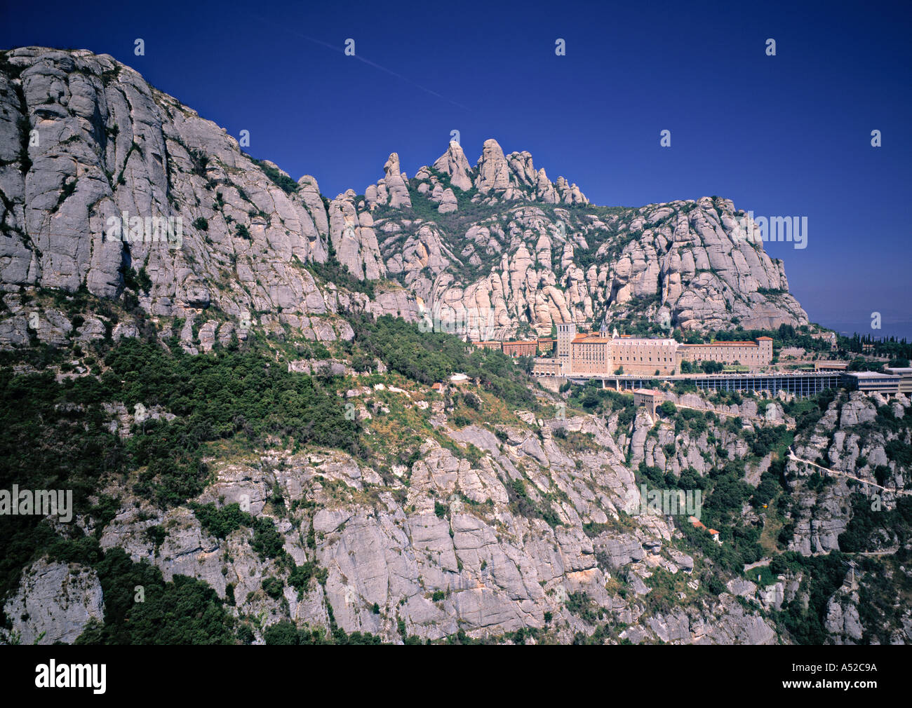 Monasterio de Monserrat, en Cataluña, España Imagen De Stock