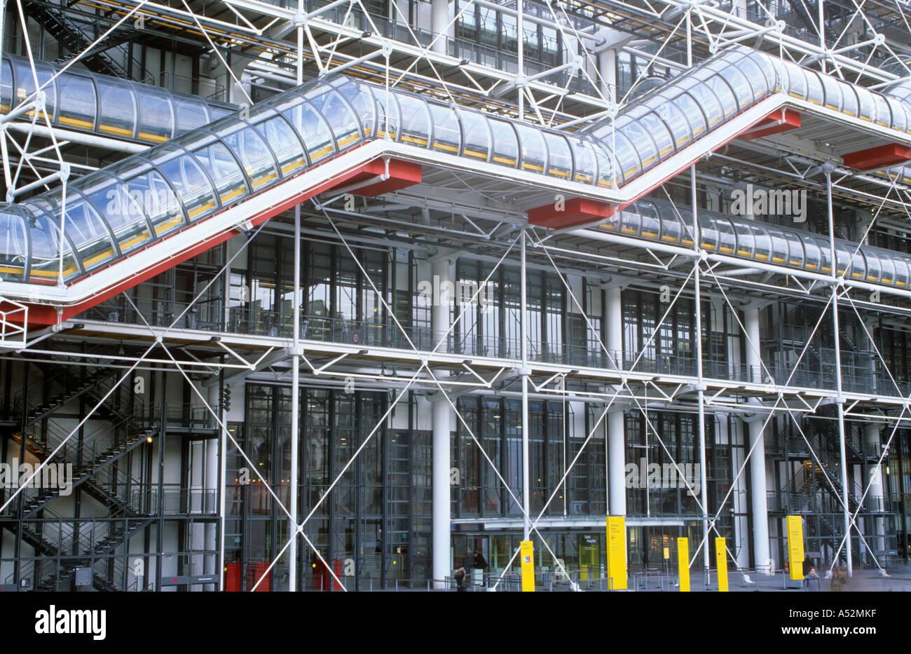 Centro Pompidou en París, Francia Imagen De Stock
