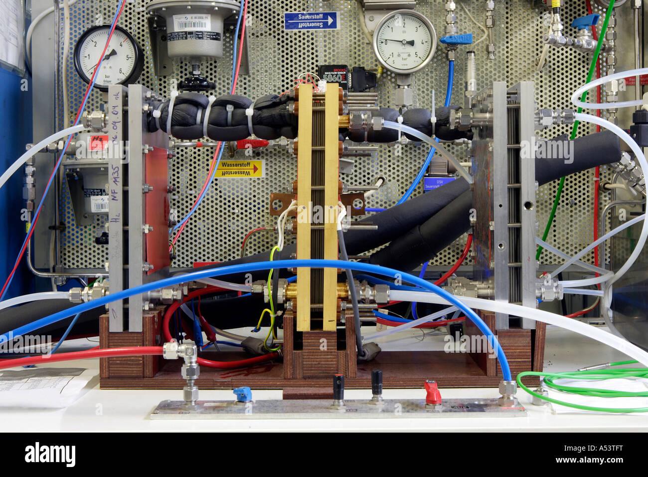 Pruebas de células de combustible en el centro de investigación en Juelich, Alemania Imagen De Stock