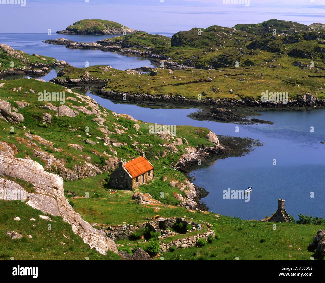GB - Escocia: Loch Geocrab en la isla de Harris Foto de stock