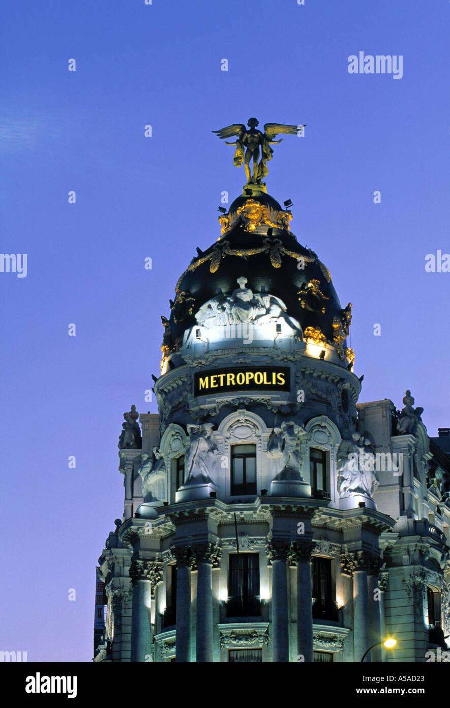 Edificio metrópolis, Madrid, España Imagen De Stock