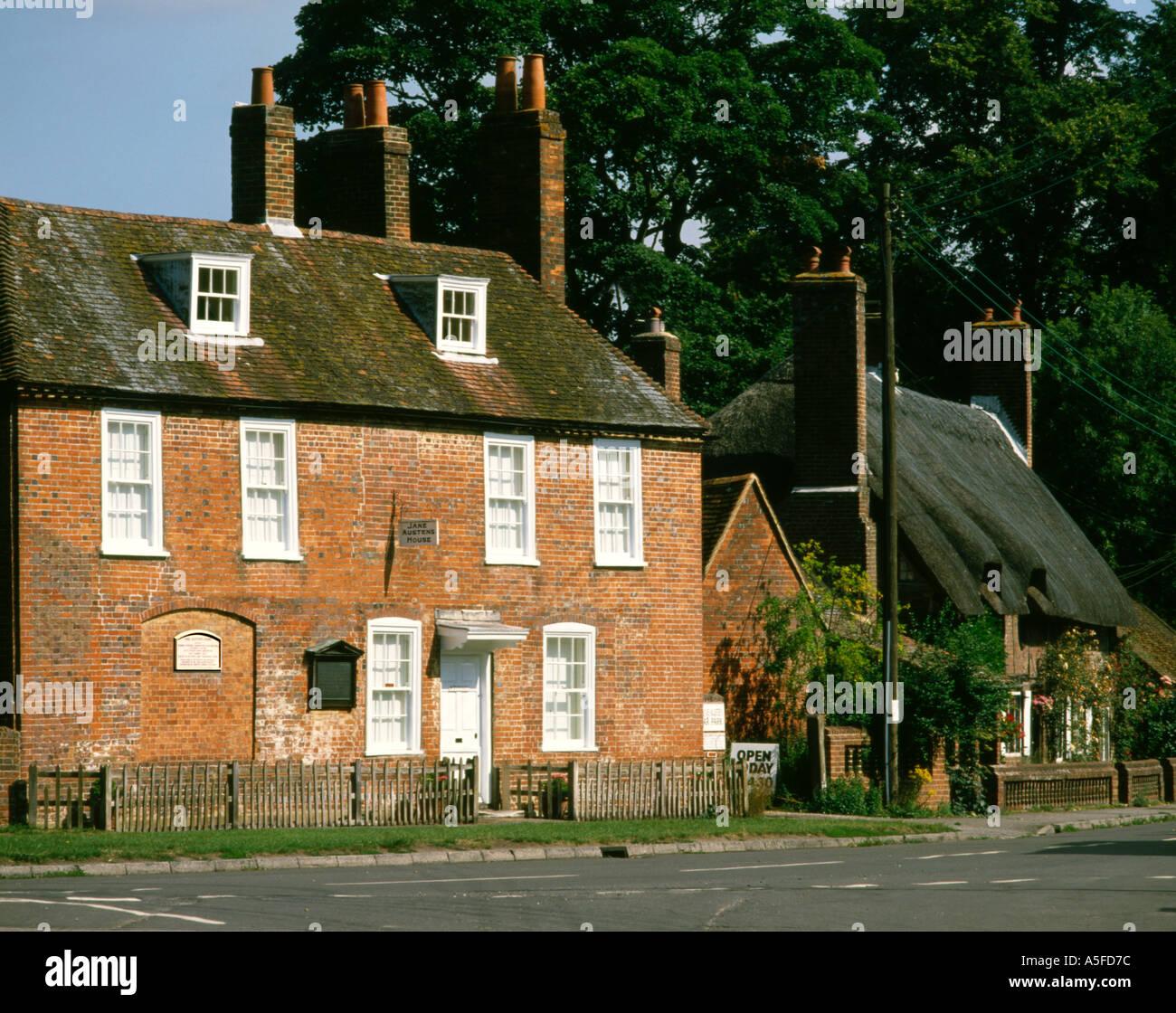 Inglaterra Jane Austen's House Imagen De Stock