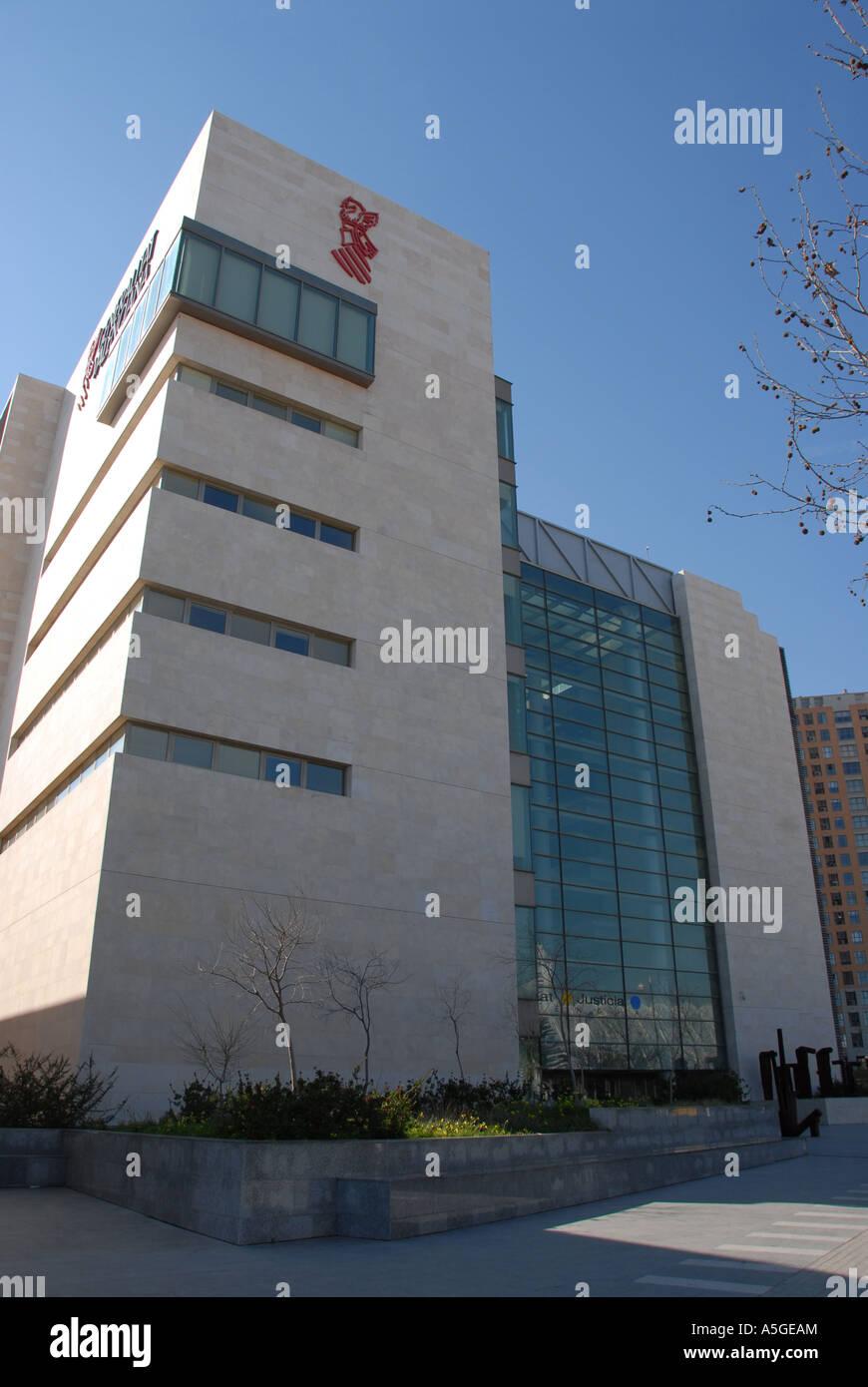 Valencia principal del Tribunal de Justicia, España Foto de stock