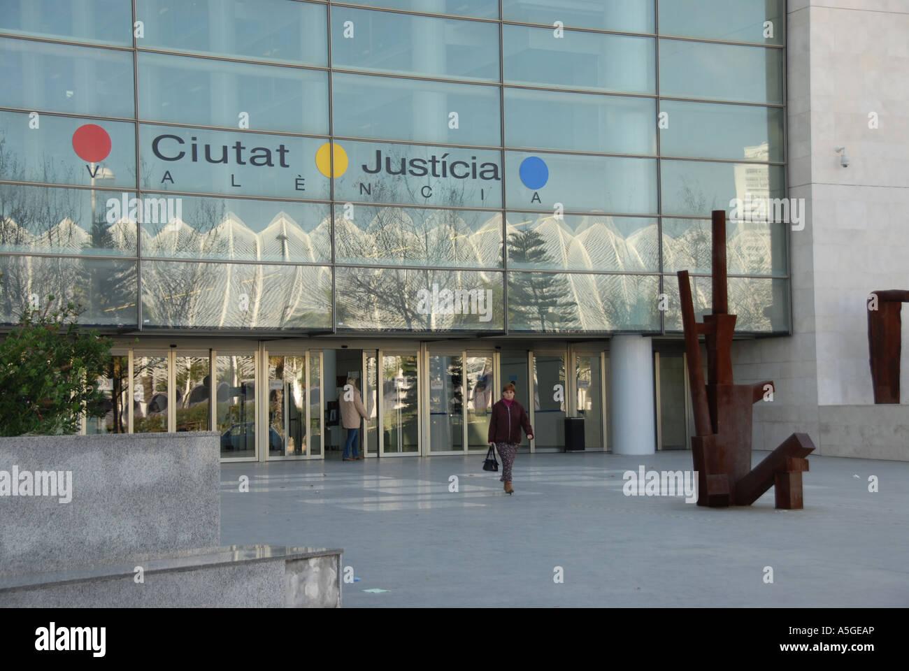 Valencia el principal tribunal de justicia, España Foto de stock