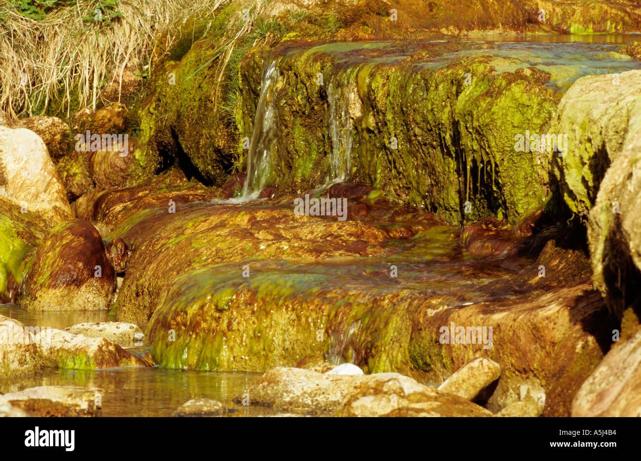 Caher río cerca de Fanor Burren Imagen De Stock