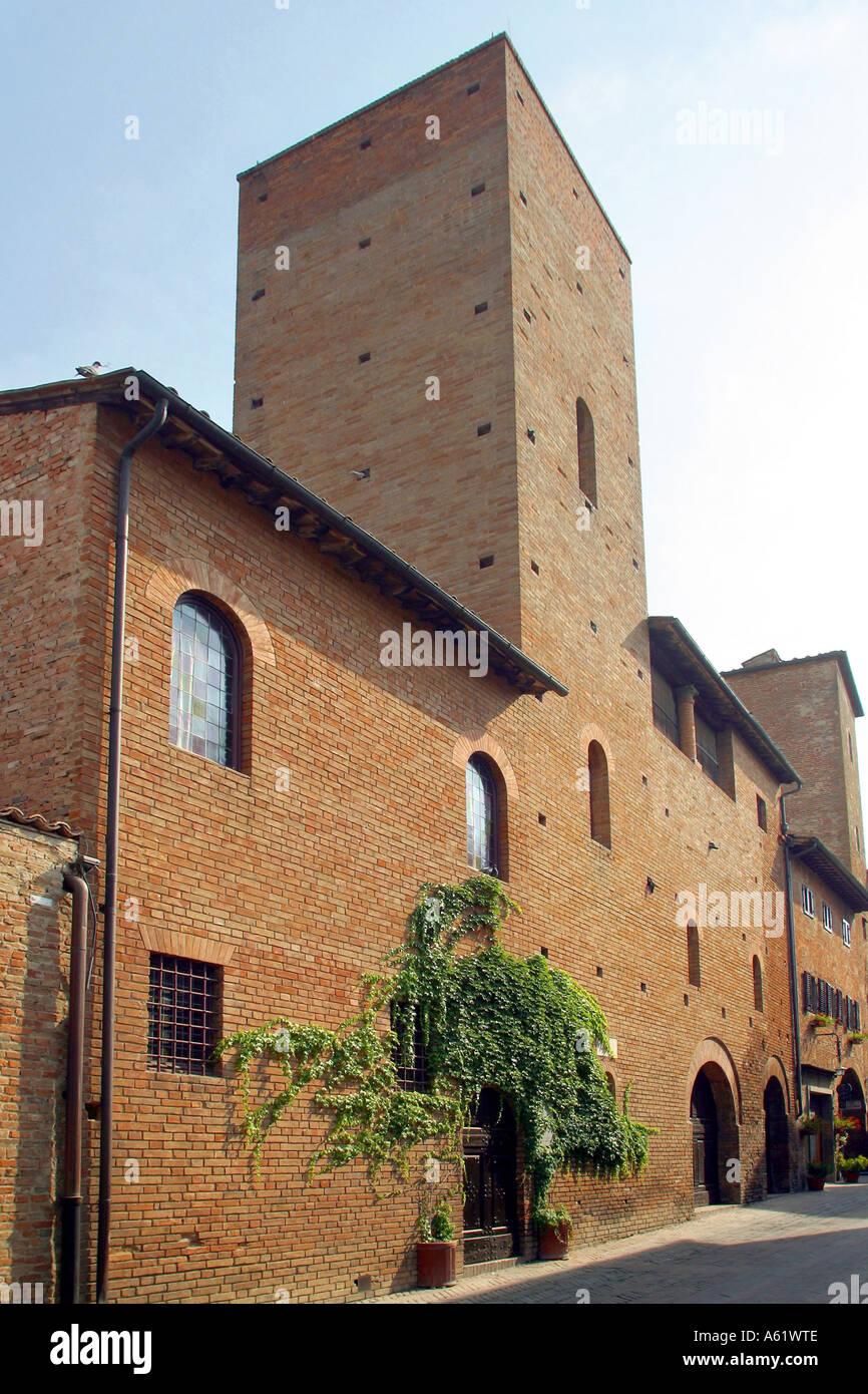 Boccaccio casa Certaldo Toscana Italia Foto de stock