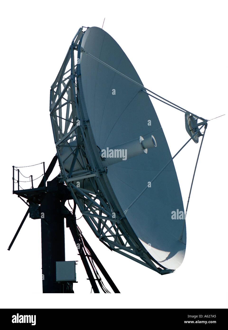 Antena parabólica para la industria de comunicaciones Foto de stock