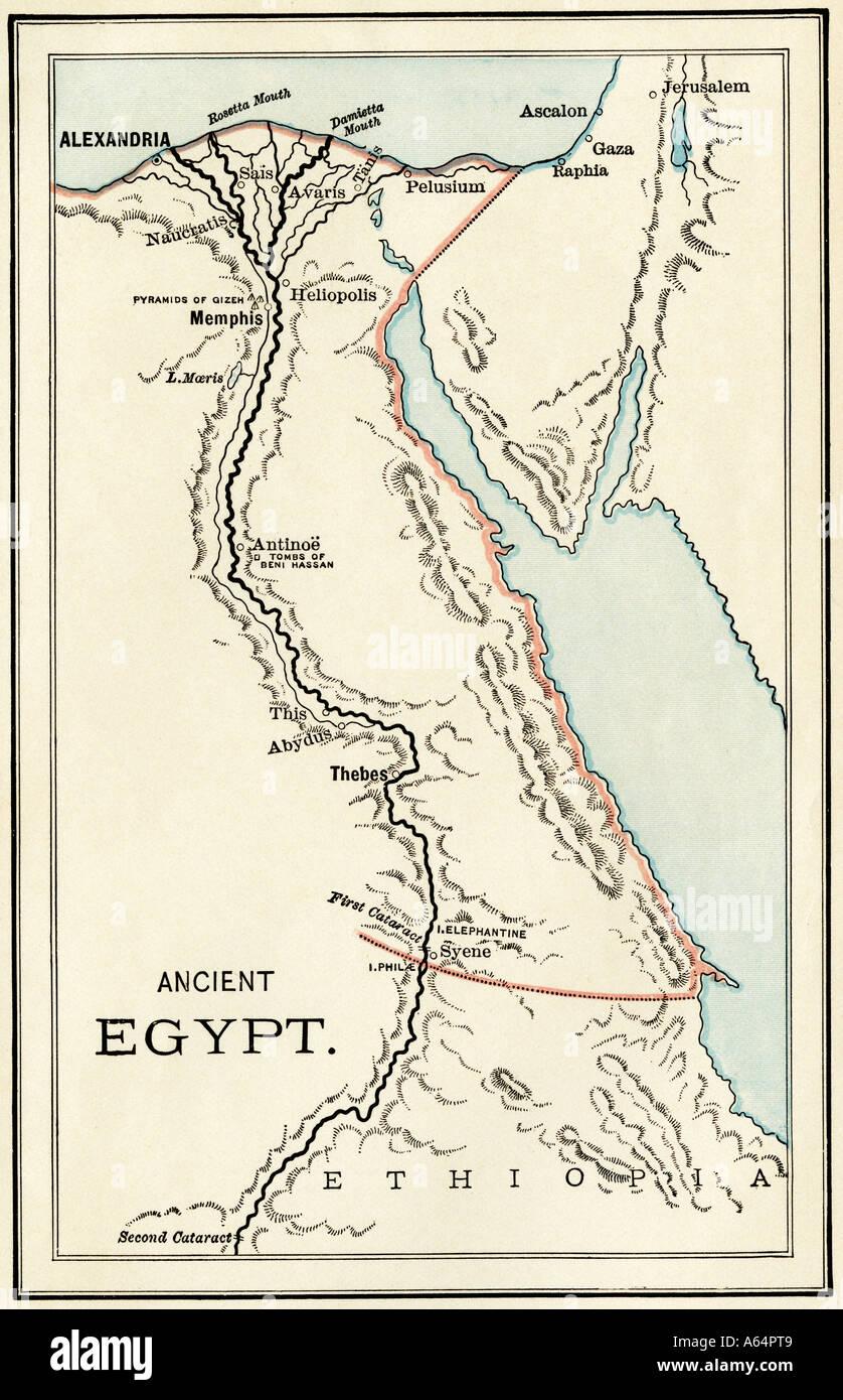 Mapa Del Antiguo Egipto Blanco Y Negro.Mapa Antiguo Egipto Imagenes De Stock Mapa Antiguo Egipto