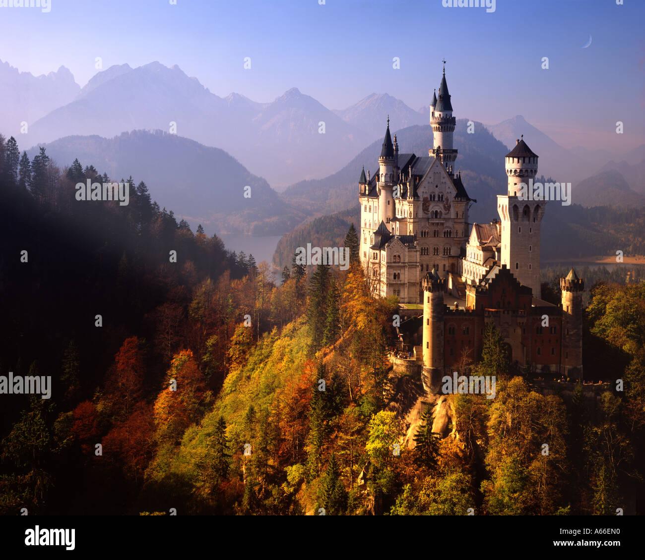 DE - Baviera: el castillo de Neuschwanstein Imagen De Stock