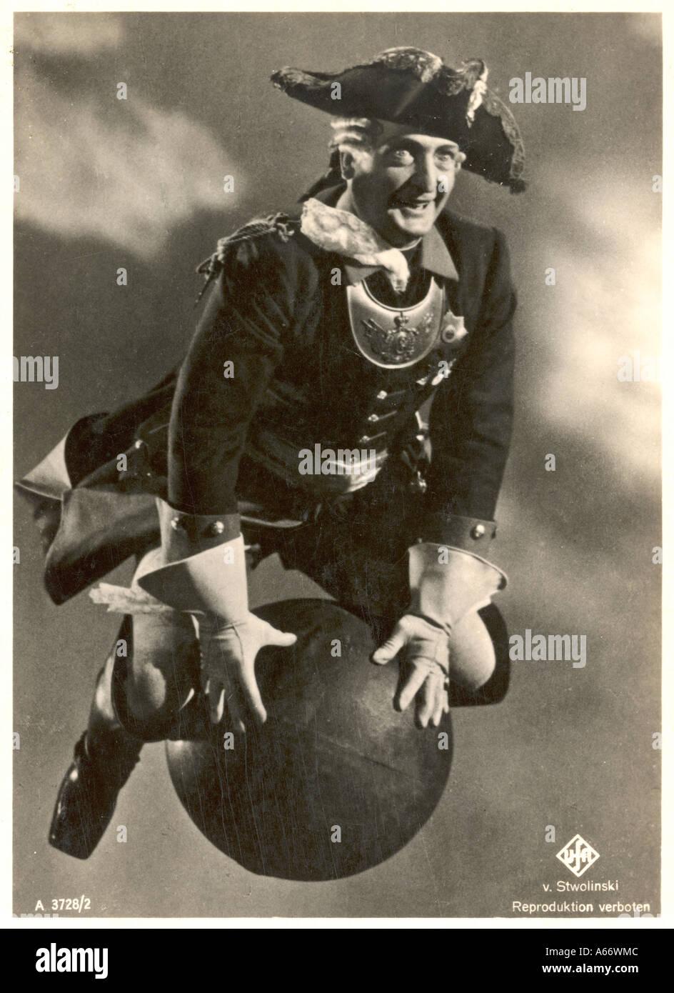 Baron Munchhausen Foto de stock